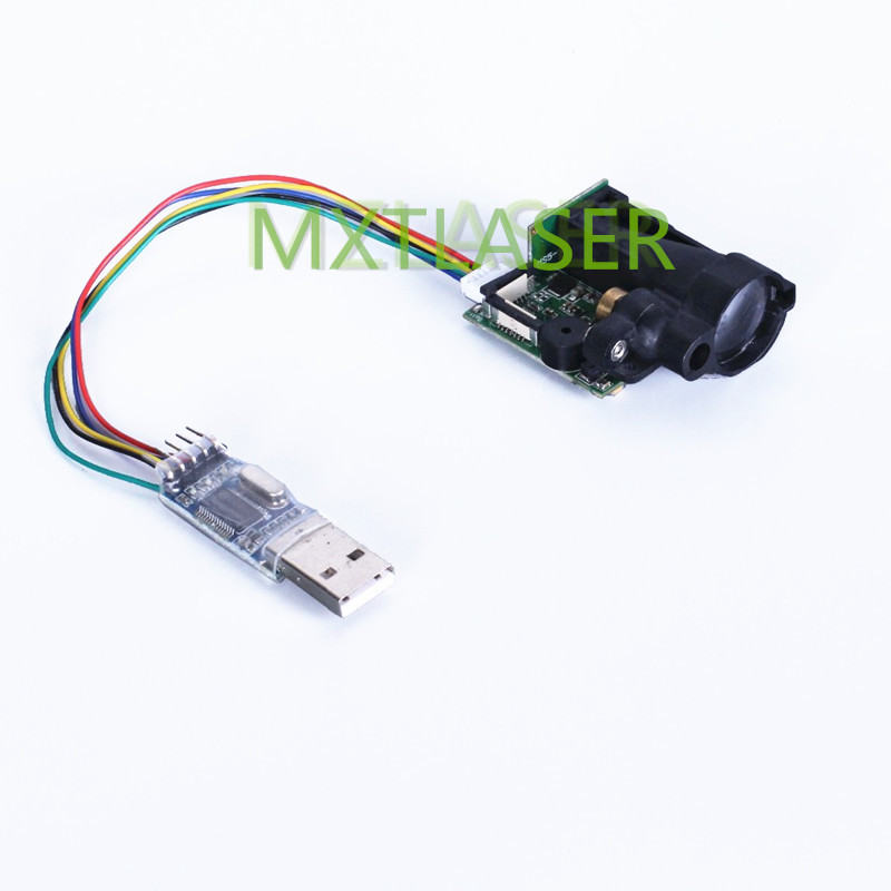 Laser Distance Measuring Sensor Range Finder Module RS232 EV Kit 100M