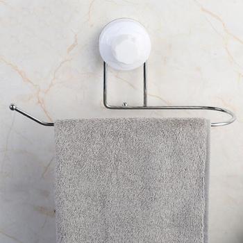 Mocny przyssawka wieszak na ręczniki wieszak na ręczniki wielofunkcyjny łazienka wieszak na ręczniki ręcznik produkty do kuchni bar stojak na papier toaletowy Dropshipping tanie i dobre opinie Shuang qing zamieszkują domu Typ ścienny