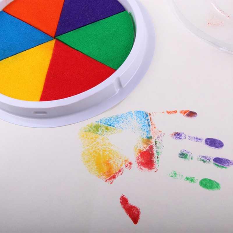 DIY Parmak Boyama Oyuncaklar 6 Renk Çocuklar Komik Grafiti Sanat Zanaat Inkpad Pullar Bebek Öğrenme Eğitim Oyuncak Montessori Çizim Oyuncaklar