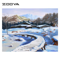 Square 5D Diamond Painting Needlework Embroidery Complete Drill Diamond Cross Stitch Crystal Landscape AT1096