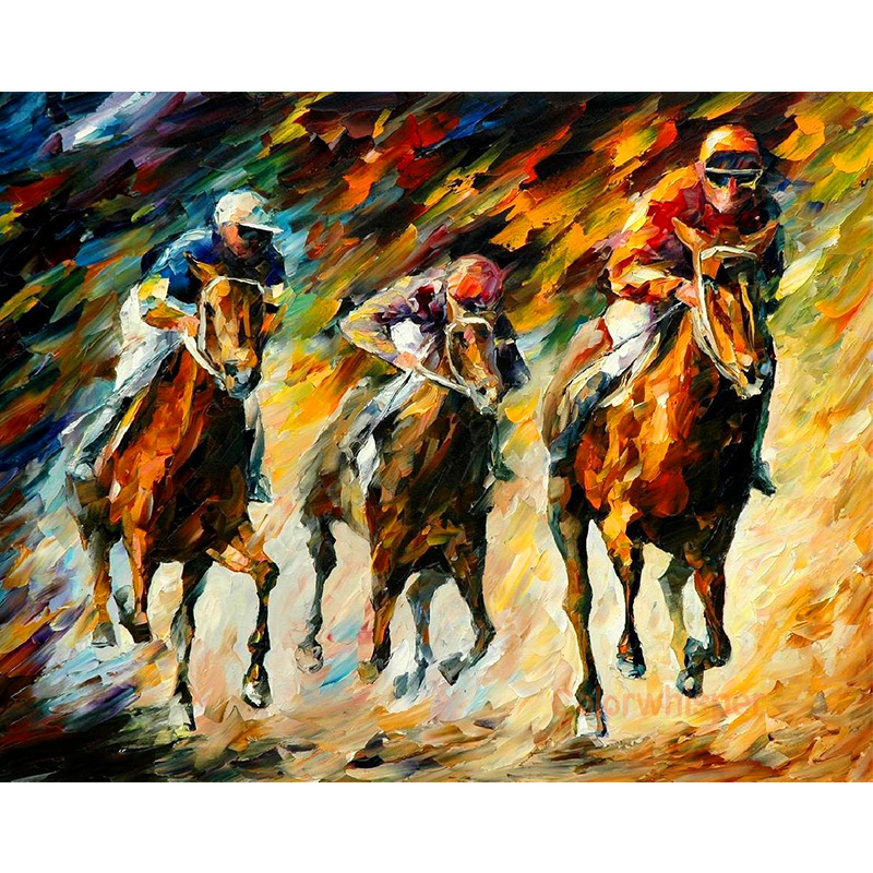 5D Diamond PaintingHorse Racing Sports Competition Animal3D Full Square Drill DIY Painting Living Room Decor Wall Art LE00742