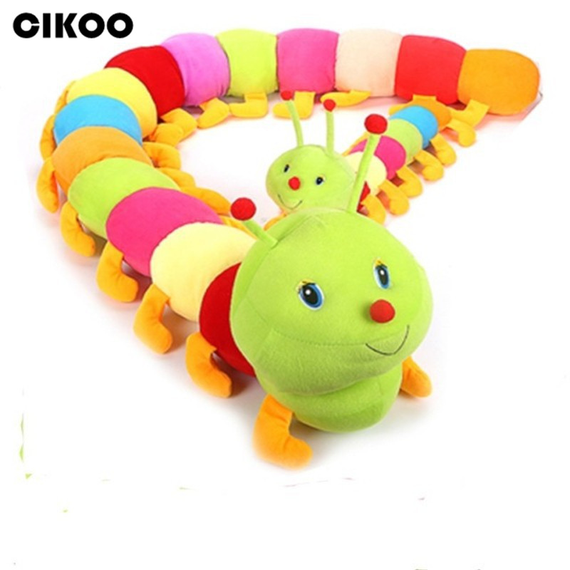 CIKOO 1PC 50cm Lovely Inchworm Toy Soft Plush Caterpillars Hold Pillow Doll Toys For Children Baby&Kid Plush Educational Toys