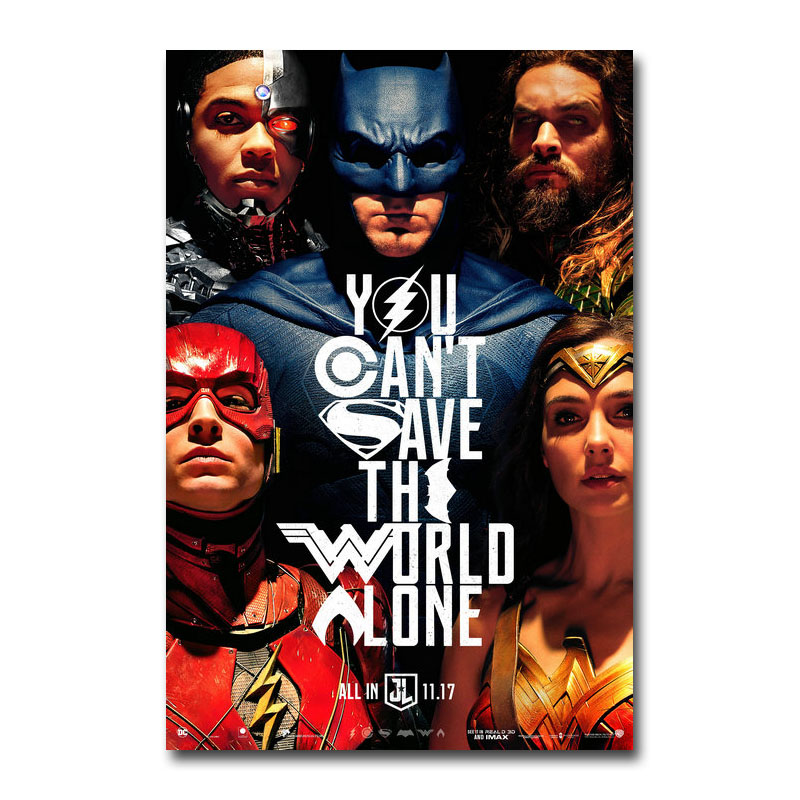 Art Silk Or Canvas Print Justice League Movie Superhero Movie 13x20 32x48 inch For Room Decor Decoration-001