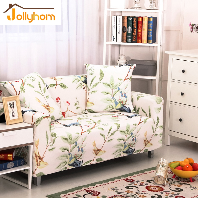 Flower Printing All Inclusive Sofa Cover Stretch Elasticity Tight Wrap Slipcovers  Single/Two/