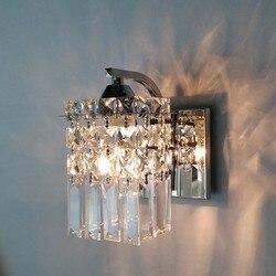Kryształowa ściana kinkiet nowoczesna ściana światło kryty dekoracyjne światła lampa led lampa naścienna sypialnia łazienka kinkiet lustro lampy Wewnętrzne kinkiety LED Lampy i oświetlenie -