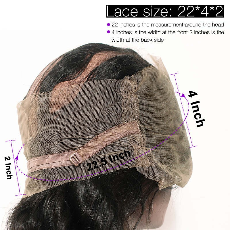 360 Lace Frontal Closure Pra Plucked With Baby Hair Deep Wave Frontal - Rambut manusia (untuk hitam) - Foto 6