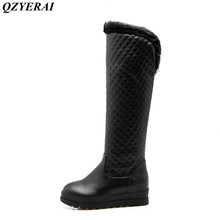 QZYERAI Winter warm to the bottom cover flat bottom female boots snow boots women shoes suitable for ultra-low temperature