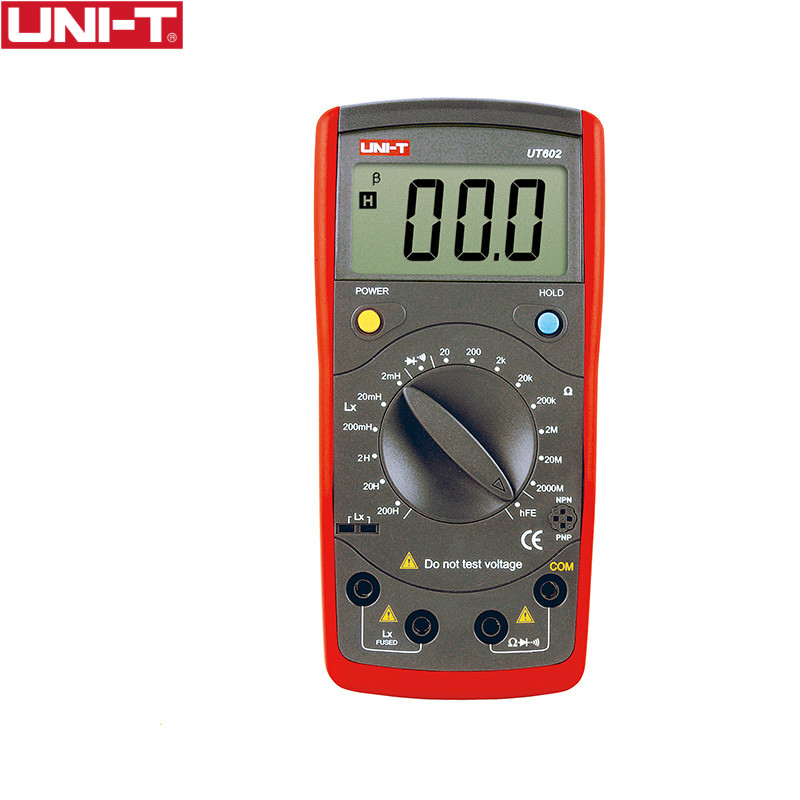 UNI-T UT602 Digital Modern Professional Inductance Capacitance Meters LR Meter Ohmmeter w/hFE Test & Data Hold Continuity Buzzer фильтр aqua el uni max professional fzkn 700 внешний
