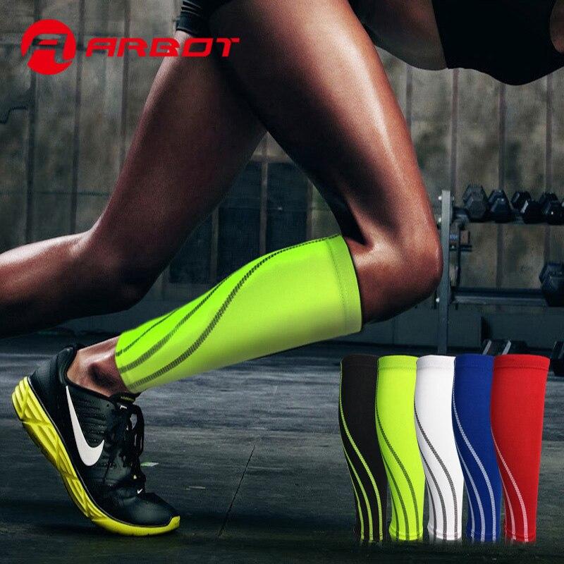 Calf Compression Sleeve Leg Compression Socks for Shin Splint Men Women Runners Guards Sleeves Sport leggings ombre circle calf length socks