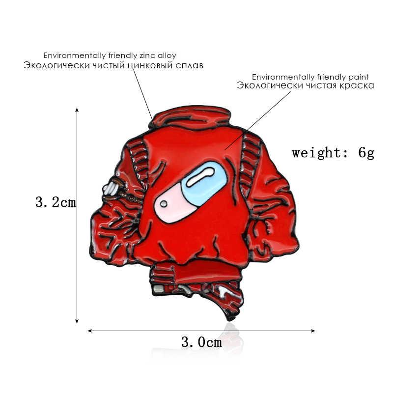 特定赤コートブローチピル医薬品カプセルパターン医学部エナメルピンバックパックの服デニムバッジ目を引くクール