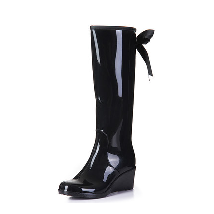 Aliexpress.com : Buy Women Rain Boots Wedge Heel High Ladies ...