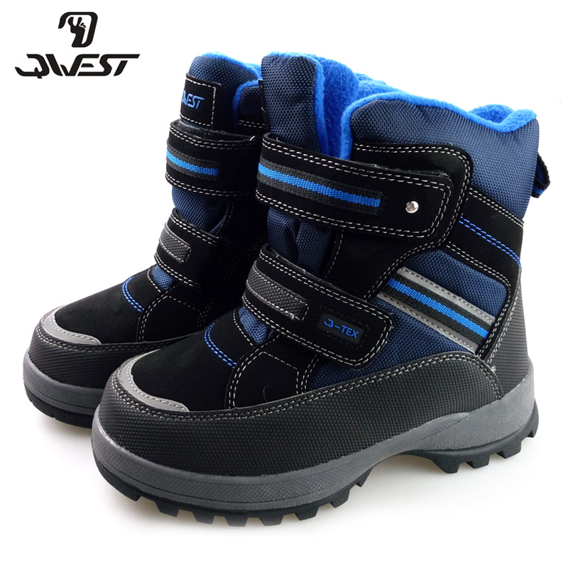 Фото - QWEST Wool Keep Warm Waterproof High Quality Anti-slip Kid Orthotic Arch Support Size 35-40 Snow Boots for Boy 72M-QK-0426 women high heel shoes platform pumps woman thin high heels party wedding shoes ladies kitten heels plus size 34 40 41 42 43