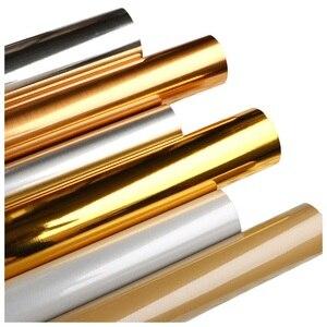Złota srebrna folia aluminiowa TV powrót naklejka na lustro ścienne samoprzylepne tapety wodoodporne, odporne na wilgoć szkło naścienne