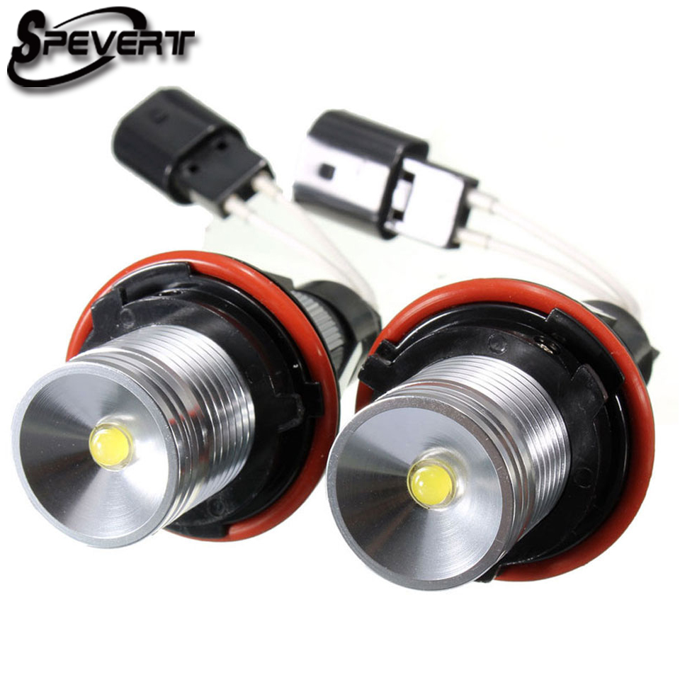 Car Headlight Bulbs(led) Qualified Spevert 2pcs/lot Angel Eye 5w 6000k Led Marker Bulbs For Bmw E39 E53 Angel Eye Halo Ring Marker Side Light White Rapid Heat Dissipation