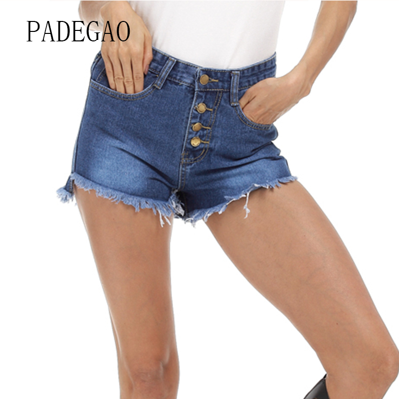 Large Plus Size High Waist Summer Denim Shorts Women Short Ladies Womens Jeans  Femme Sexy Casual Mujer Woman Fashion 2017-in Shorts from Women s Clothing  on ... d10eb9b31aa