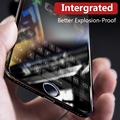 Benks anti blue ray cubierta completa shatter protectores de pantalla para iphone 7/7 plus 3d borde curvo de cristal templado de cine