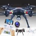 6-Axis 4 CH 2.4 GHz 2.0MP Wifi FPV Transmisión En Tiempo Real Luz LED de la cámara RC Quadcopter Drone Giroscopio para Android iOS teléfonos celulares