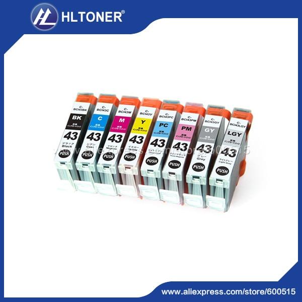 ФОТО 8pcs/set Compatible ink cartridge Canon BCI43 for CANON PIXUS Pro-100