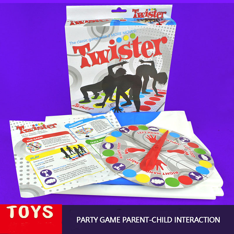 60x110cm Twister Move Game For 2-6 players Classic Family Friend Play Mat Twisting Body Interactive Sports Toys For ChildrenA193