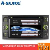 A Sure 7 автомобильный Радио плеер gps для Ford Transit Focus Galaxy S Max C Max фьюжн фиеста FM/AM RDS SWC Bluetooth CD DVD USB 3g BT