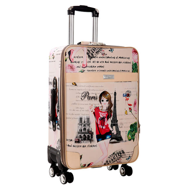 79f196036e3d placeholder BeaSumore Cute girl Rolling Luggage Spinner Suitcase Wheels  Student Carry On Travel Bag Women Password Cabin