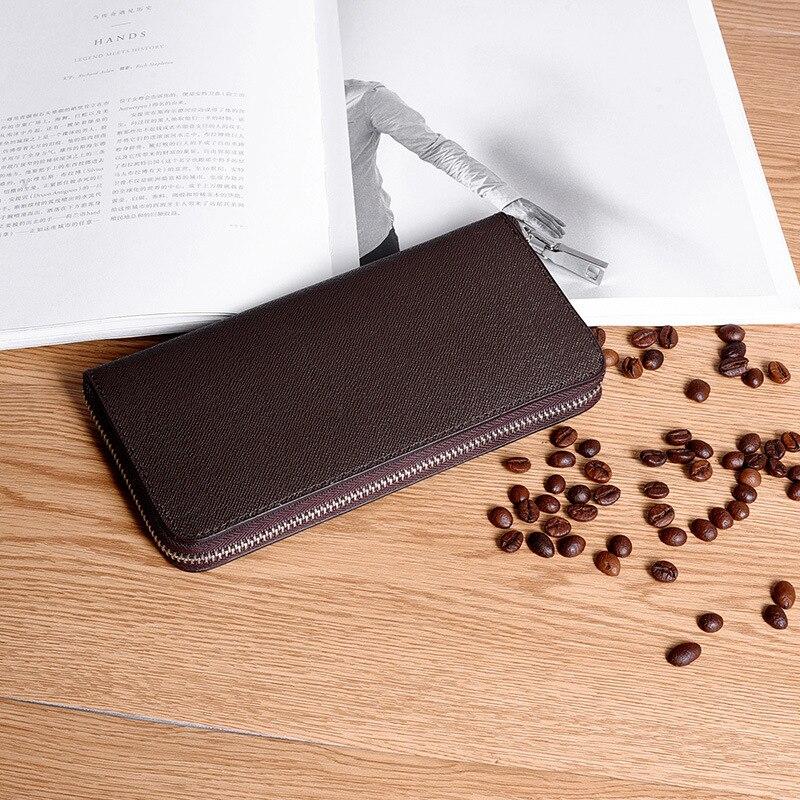 Del Zf9622 Black Sacchetto Raccoglitore Raccoglitore Di lungo Chiusura Cuoio Uomini 2019 Donne coffee Mano Lampo Hengsheng Della Degli Delle T0xwagnqR