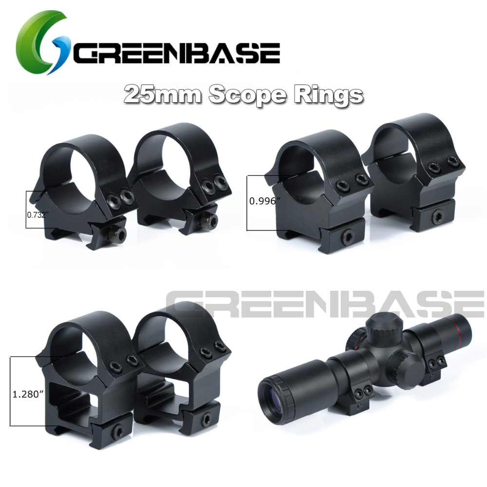 Greenbase Niedrig Mittel Hoch Profil 25,4mm Umfang Montieren Weaver Picatinny Schiene Ziel Tactical Scope Ringe 1 zoll Heavy Duty gerät