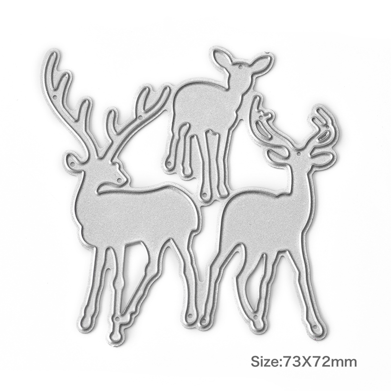 Christmas Elk Cutting Dies Stencil DIY Scrapbooking Embossing Paper Cards Craft