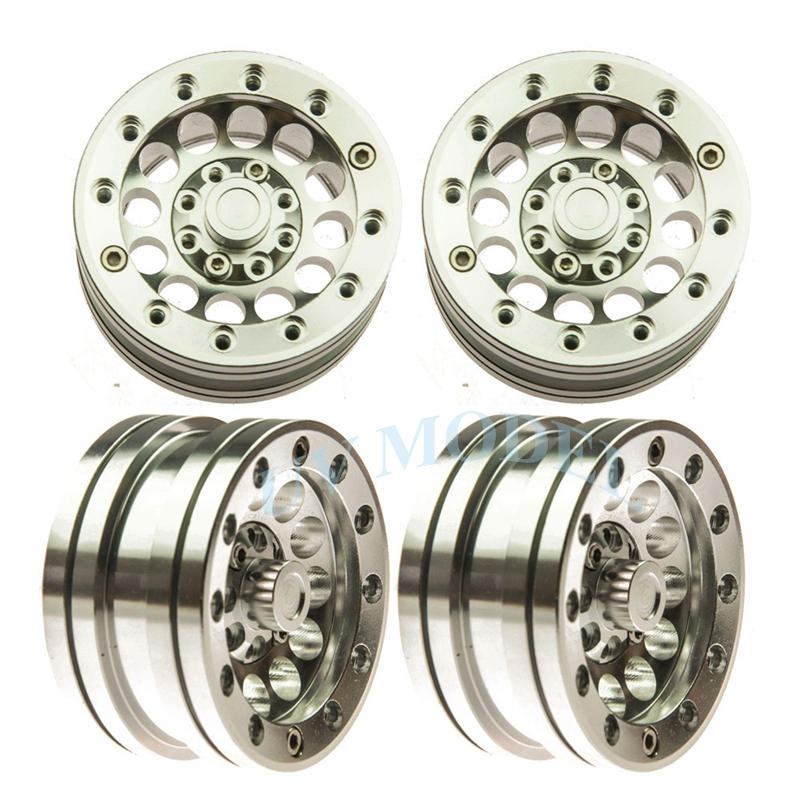 4PCS 1/10 scale RC Climb Car 1.9 Beadlock Crawler Wheels/Rims For RC4WD SCX10 CC01 Alloy Aluminum Spoke Wheel Rim free shipping 2pcs 1 9 roost version 1 10 scale rc crawler car wheels metal beadlock wheel hubs diameter 53mm