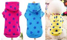 Fashion Blue Yellow Red Pet Dog Clothes Sweatshirt Hoodie For Winter Warm Cute Coat Puppy XXS S,M,L