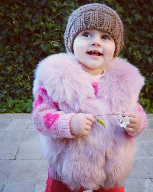 331cb52b462709 Baby Bont Vest Nieuwe Meisje Konijnenbont Kleding Imitatie Vos Bontjas Kids Warm  Vest Kinderen Winter Jacke