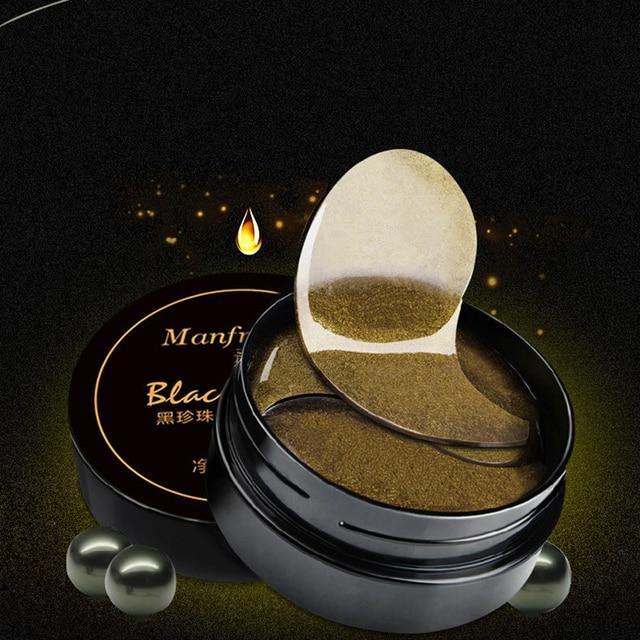 Corea del Perla Negra colágeno máscara de ojos anti arrugas dormir parche oscuro círculos bolsas en los ojos quitar ojo máscara 2018