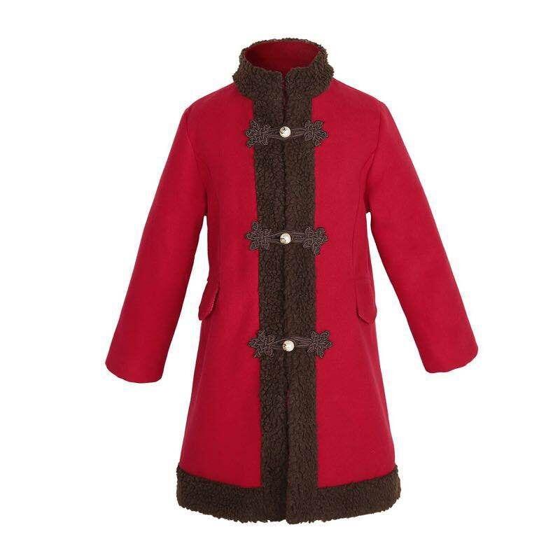 Girls Wool Winter Coats Baby Wool Coat Girls Red Clothing Sets Toddler Girls Long Sleeve Outwear