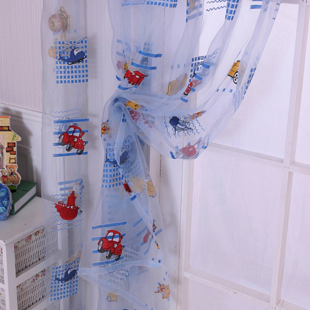 New HOT 100cm*200cm Cartoon Curtains For Kids Finished Printed Curtain Tulle Curtain For Children