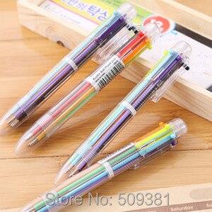 Image 2 - 50 stks/partij Multicolor Balpen, 6 kleuren balpen, leuke balpen gift pen voor kinderen en student.