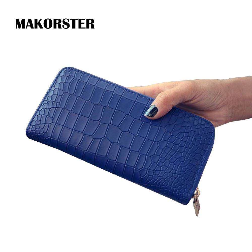 MAKORSTER Fashion Long Leather Wallets and purses Women Wallet Female Luxury Famous Brand Ladies Bags Designer Wallets MK143 ботинки findlay findlay fi020awsnr53