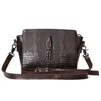 Brands Chinese Style Retro First Layer Of Genuine Leather Handbags Crocodile Grain Shoulder Bags Ms Handbag