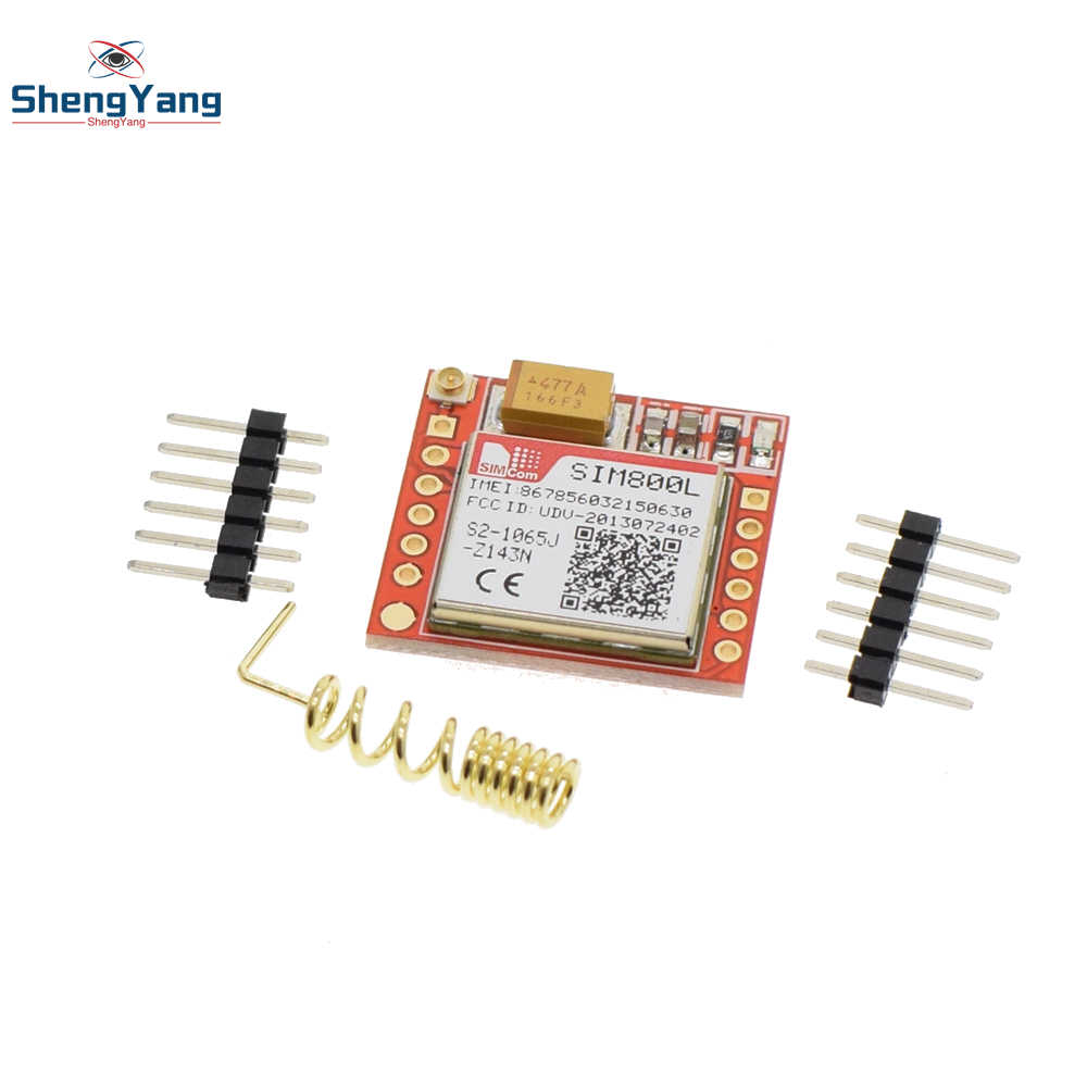 1pcs ShengYang Smallest SIM800L GPRS GSM Module MicroSIM Card Core BOard  Quad-band TTL Serial Port