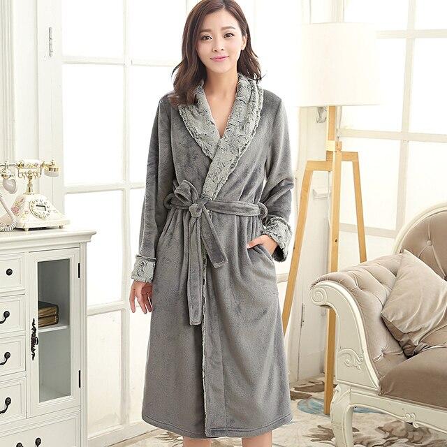 Robe de chambre longue femme luxe