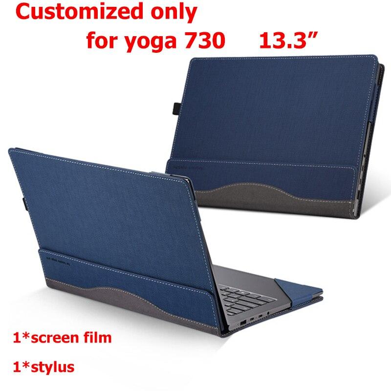 Conception créative couverture pour Lenovo Yoga 730 720 13.3 manchon ordinateur portable en cuir synthétique polyuréthane étui personnalisé pour Yoga 730-13 stylet écran Film