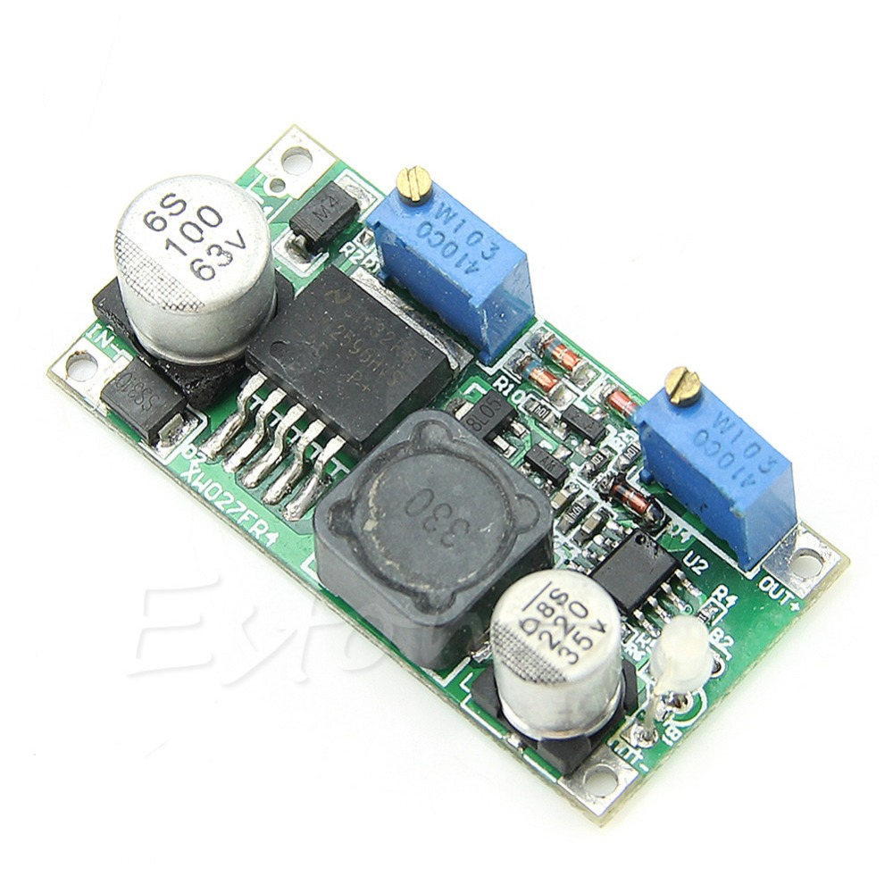 OOTDTY New LM2596HV DC-DC Step Down CC-CV Adjustable Power Supply Module 1.25-30V 15W 1pcs lm2596 dc dc step down adjustable cc cv power supply module led driver