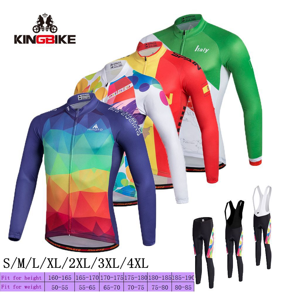 2018 new Pro Team Long Sleeve Cycling Jersey Racing Bike Clothing MTB Bicycle Clothes Wear Ropa Ciclismo Bicycle Jersey Long Sle