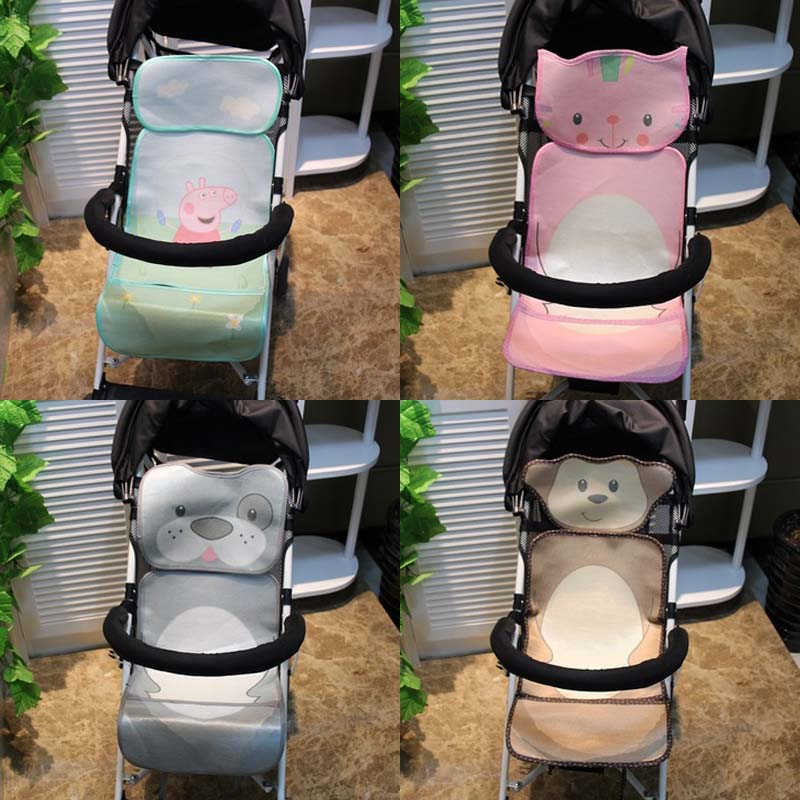 Strollers Accessories Mother & Kids Cute Pink Gray Dot Baby Stroller Cushion For Winter Autumn Soft Kids Pram Mat Pad High Length Baby Stroller Accessories Seat Mat