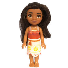 Princesa dos desenhos animados boneca kawaii móvel 16cm moana boneca figura de ação do bebê modelo brinquedos presentes de natal aniversário brinquedos para crianças