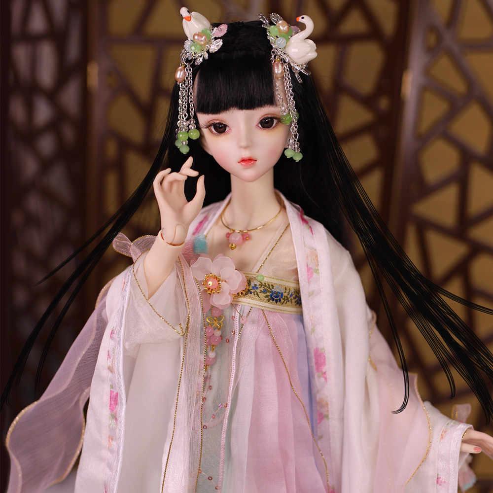 Cuerpo articulado de muñeca BJD 1/3 62CM con conjunto de zapatos de maquillaje y caja de regalo conjunto de combinación de regalo juguetes sd muñecas de alta calidad