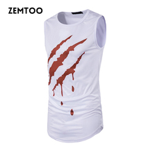 Brand Men Summer Hip Hop Long Tank Tops Men's Casual Tee Tops Vest Fashion Sleeveless Cotton Male Tanks ZM0161