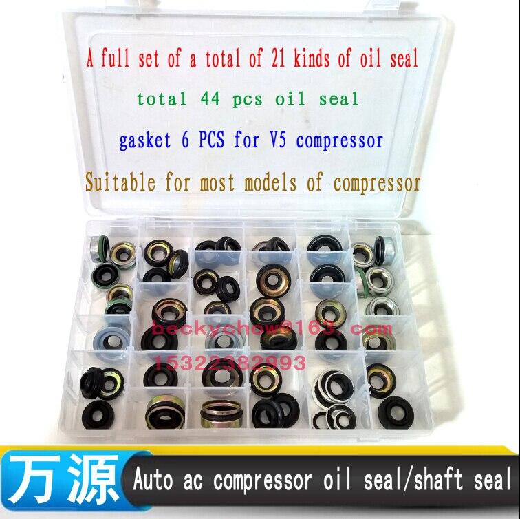 50 PCS automobile air conditioning compressor oil seal kit for fs10 7sbu16 msc90 105 A32 DKS32C