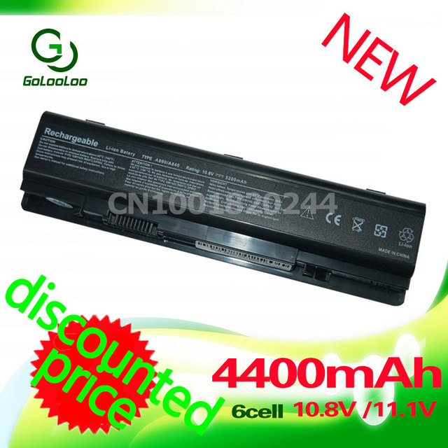 11.1v 4400мач аккумулятор для ноутбука dell  Vostro 1014 1015 A840 A860 312-0818 451-10673 F286H F287F F287H G069H R988H