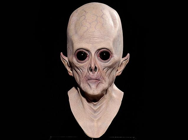 new arrival scary silicone face mask alien extra terrestrial party et horror rubber latex halloween masks