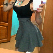 Sexy Spring Autumn New Women Skirt Knitting Woolen Midi Ladies High Waist Casual Pleated Elastic Flared Skirts Womens